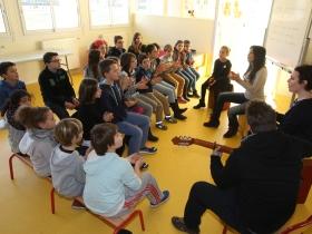 Atelier flamenco Laura Vital à l'école de Meilhan