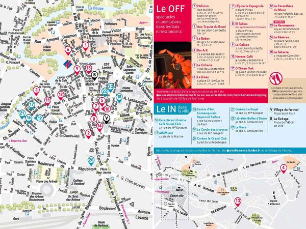 Plan de la ville pour le OFF